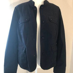 "Talbot's navy blue ""safari"" jacket, 14"